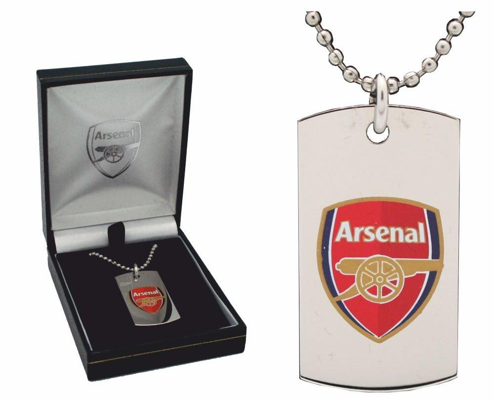engraved arsenal football id