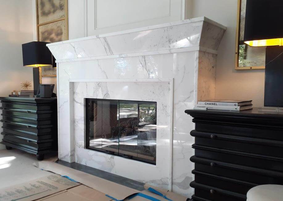 Calcutta Gold Fireplace Marble