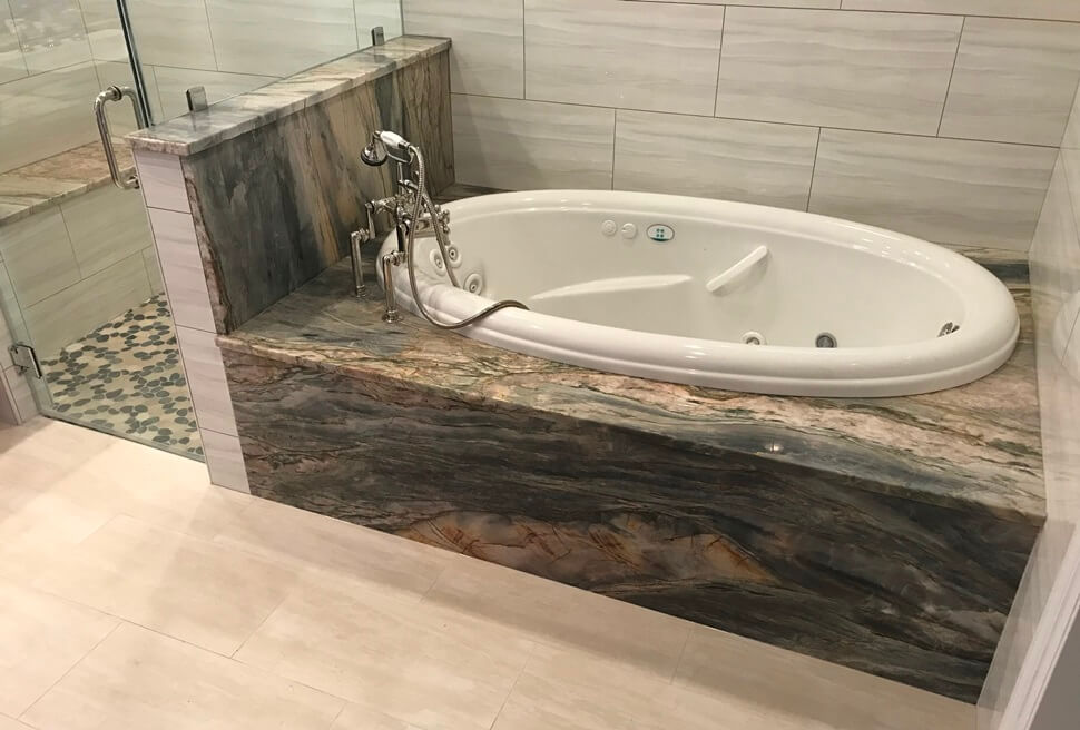 Michael Angelo with Eased edge Quartzite