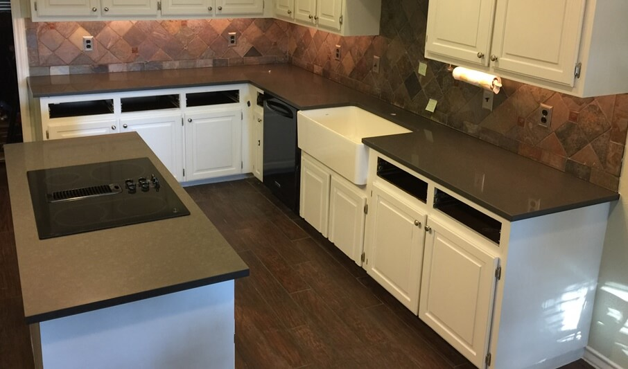Vicostone - Engineered Stone Kitchen with Flat Polish