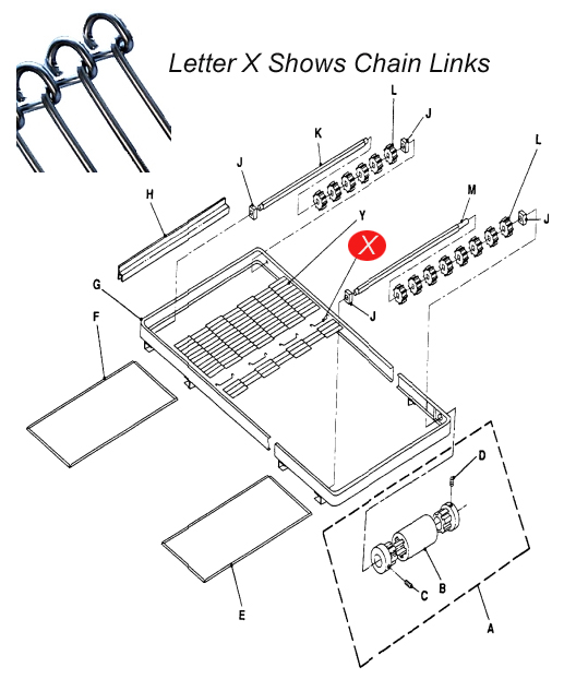 Lincoln 369165 Link For Conveyor
