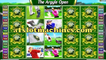 Argyle Open Golf Themed Slot Machine Game