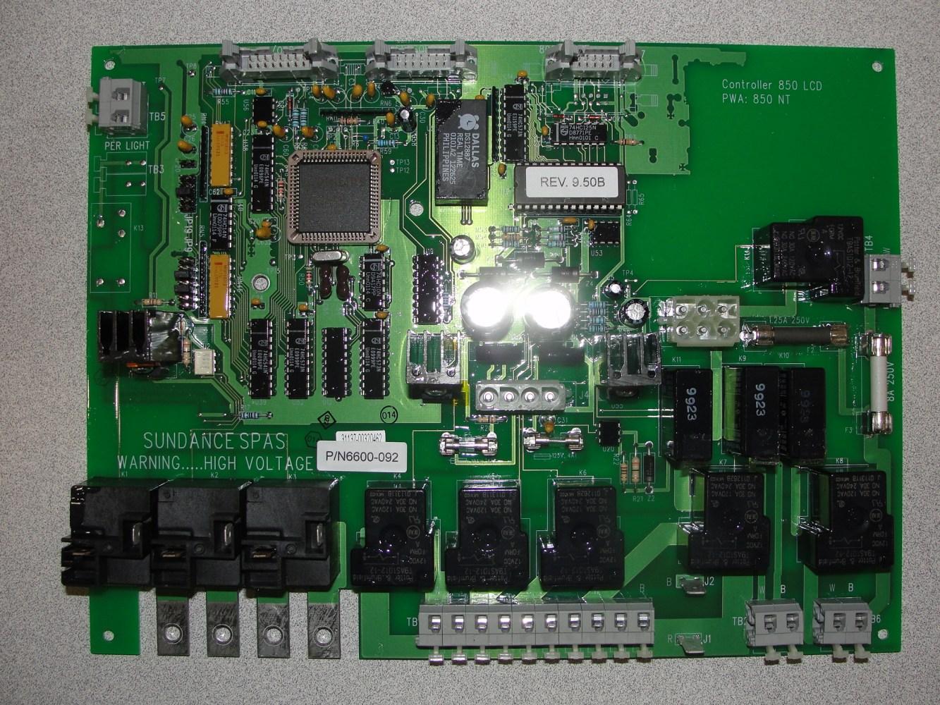 medium resolution of sundance spa jacuzzi spa circuit board 6600 092 a 1 spa control rh a1spacontrol com circuit