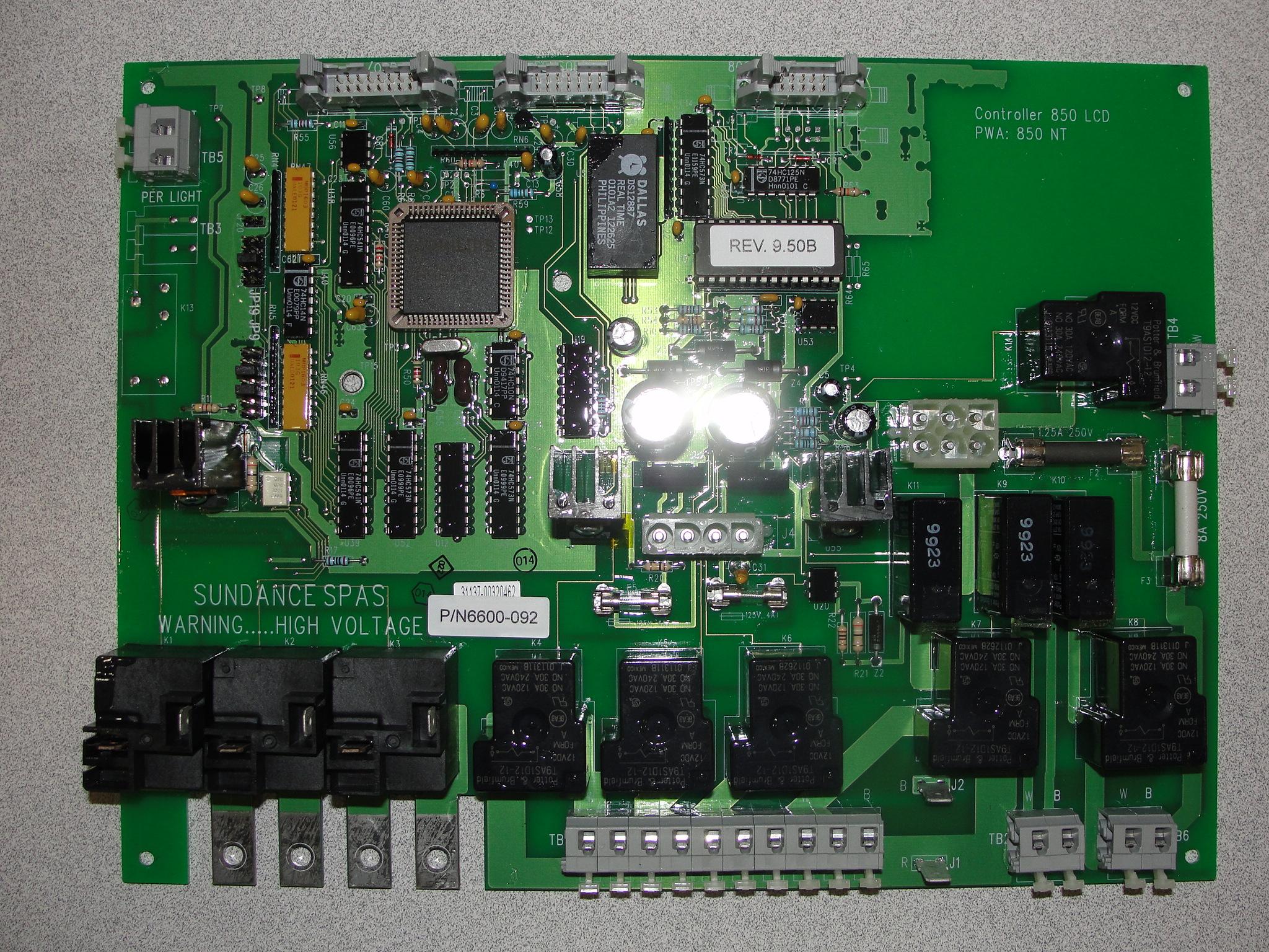 hight resolution of sundance spa jacuzzi spa circuit board 6600 092 a 1 spa control rh a1spacontrol com circuit