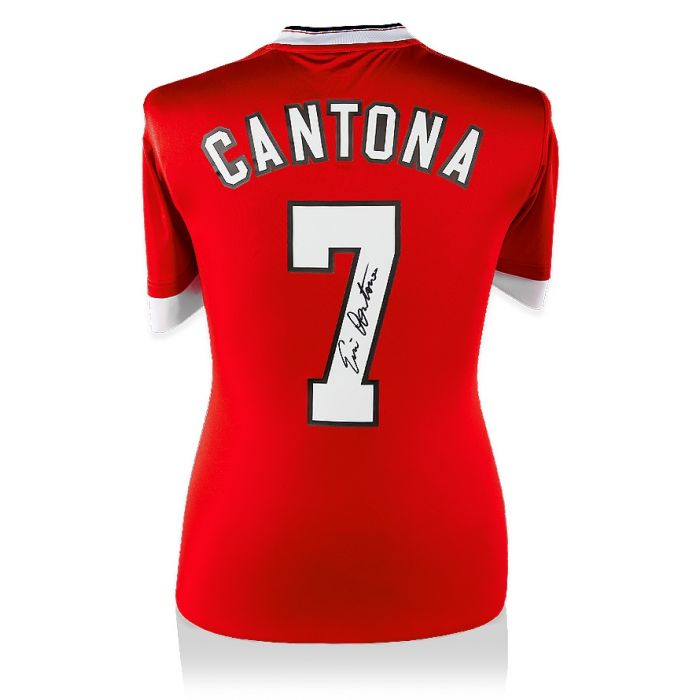 Famous for wearing the number 7 shirt with his trademark upturned collar. Eric Cantona Signed Manchester United Shirt - Number 7 ...