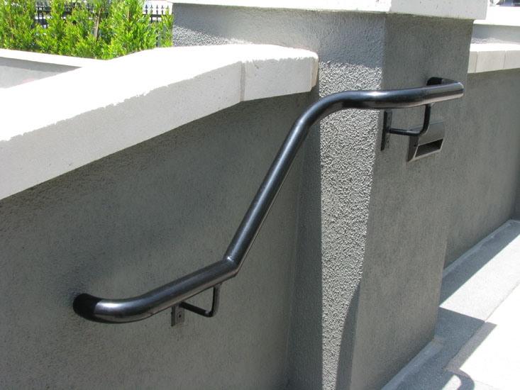Handrails Systems Stair Railing Los Angeles Ca Outdoor Stair | Wooden Handrails For Outdoor Steps | Wall Mounted Wooden | Porch | Outdoor Garden Path | Outdoor Decking | Small