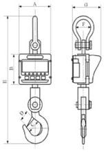 AWS CA-Series Crane Scale