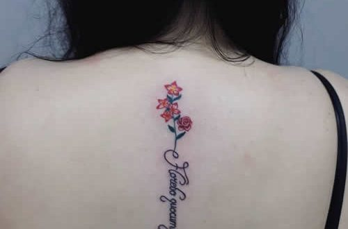 Flower Tattoo Designs For Women Back