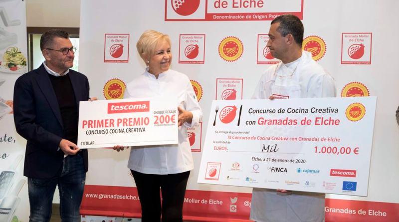 El Soasado de Breca en Aguachile de Granada Mollar del Chef Marbellí Alfredo Abril gana el Concurso Nacional de Cocina Creativa con Granadas de Elche