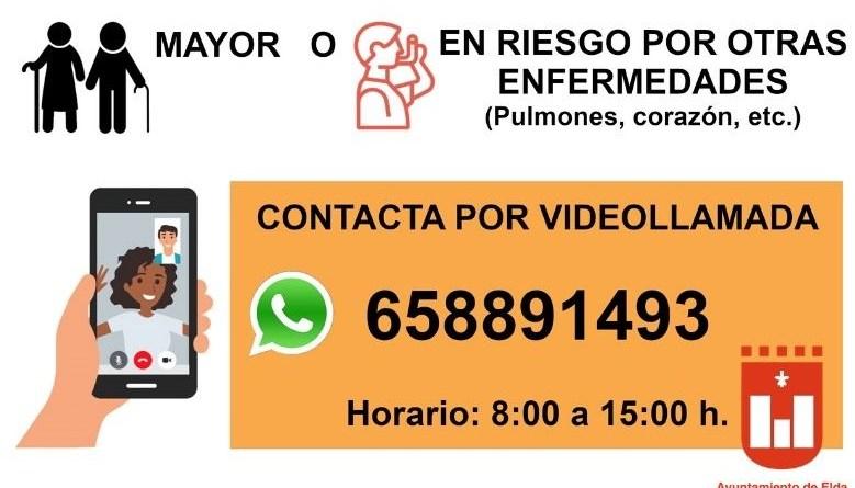 El Ayuntamiento de Elda ofrece asistencia por vídeollamada a las personas sordas mayores o en riesgo ante el coronavirus por otras enfermedades