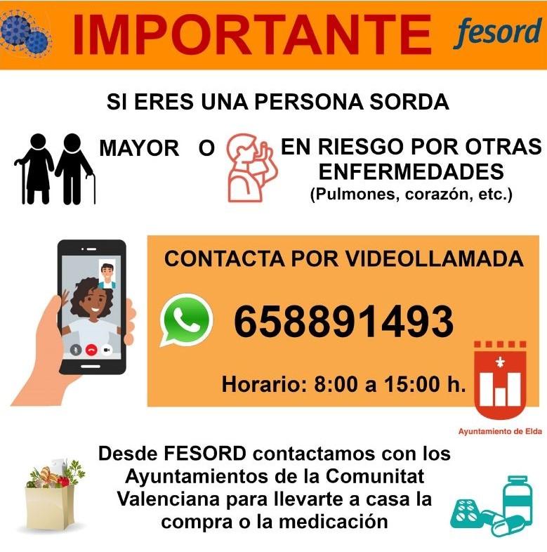 asistencia por vídeollamada a las personas sordas mayores o en riesgo ante el coronavirus