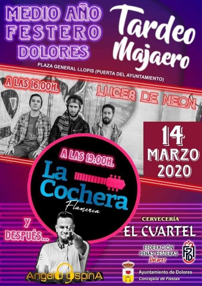 Los grupos Luces de Neón, La Cochera y Ángelo Spina DJ actuarán en el 'Tardeo Majaero'