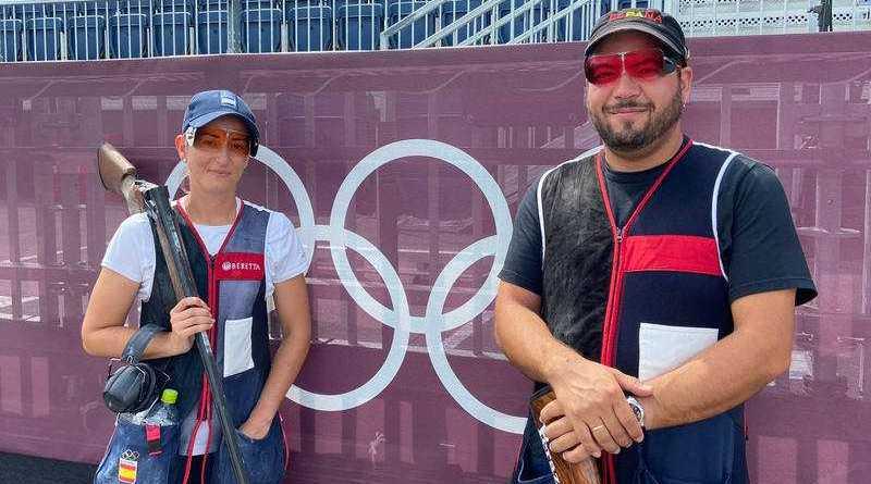 Tokyo 2020 | Tiro olímpico Fátima Gálvez y Alberto Fernández ganan el oro en foso mixto