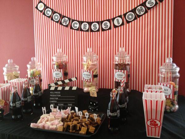Movie night wedding party