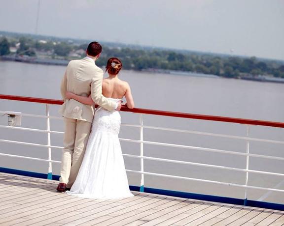 Aquatic cruise wedding
