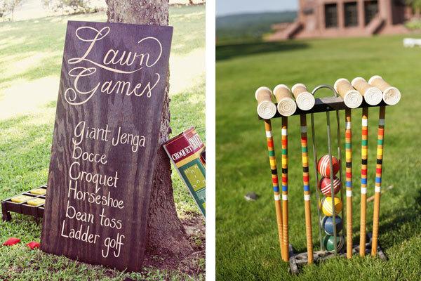 Outdoor wedding activities