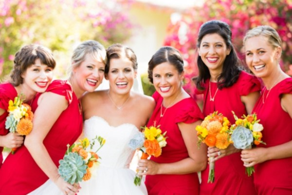 Valentine Day Themed Wedding Attire