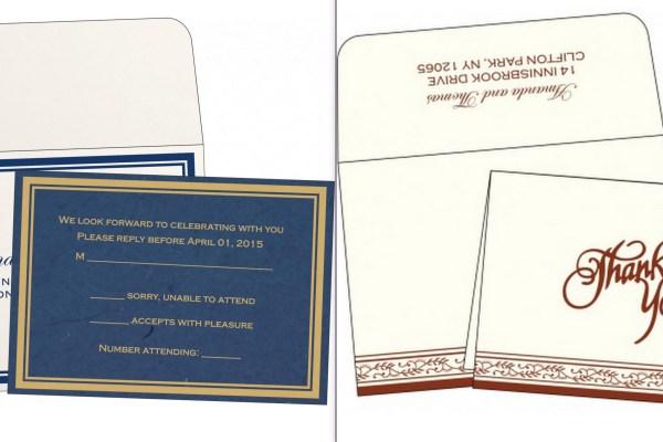 A2zweddingcards- RSVP Cards and Thankyou Cards