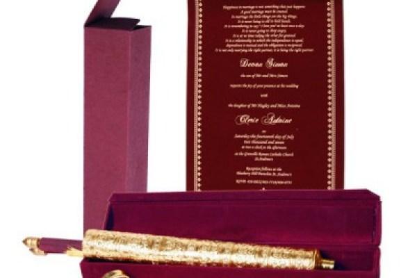 A2zweddingcards- Marsala color wedding invitation