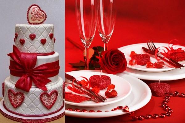 Valentine Wedding Menu
