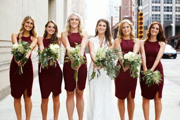 Marsala Theme Wedding Attire
