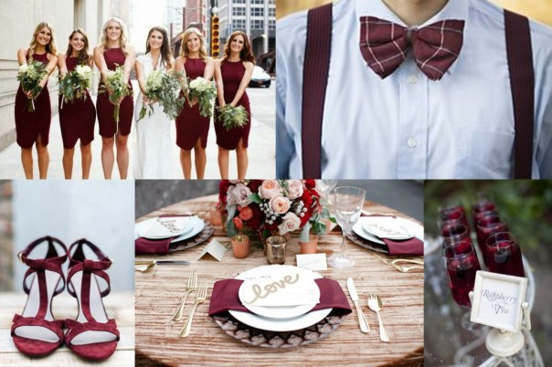 Marsala Theme Wedding