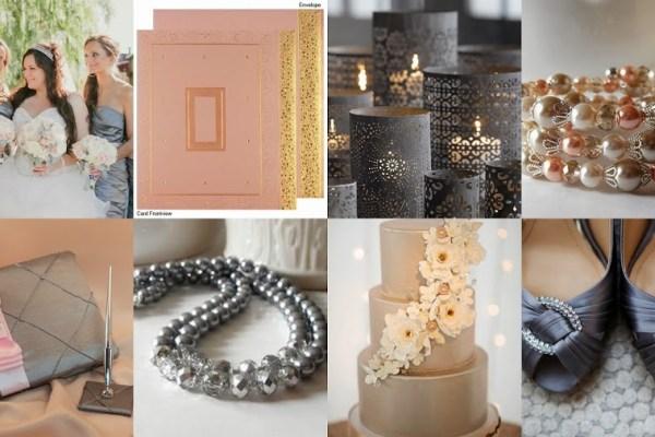 Titanium and Cream Color Wedding Theme- A2zWeddingCards