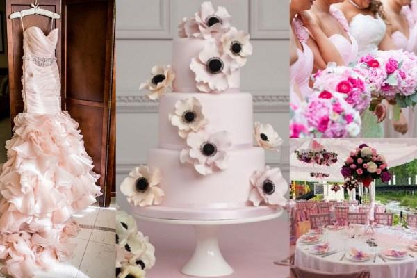 Pink Color Wedding Theme-A2zWeddingCards