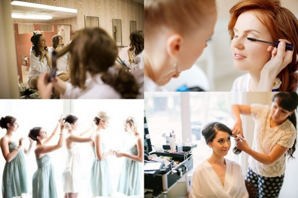 Bridesmaids Make up and Hairstyles