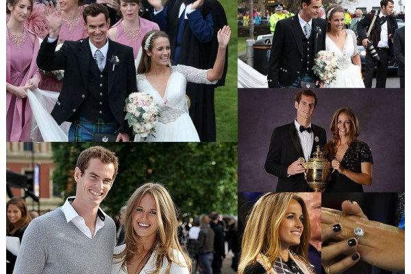 Andy Murray & Kim Sears - A2zWeddingCards