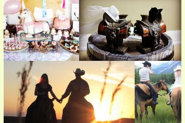 CowBoy Wedding Horseride - A2zWeddingCards