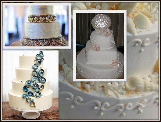 Oyster Pearl Wedding Cake - A2zWeddingCards