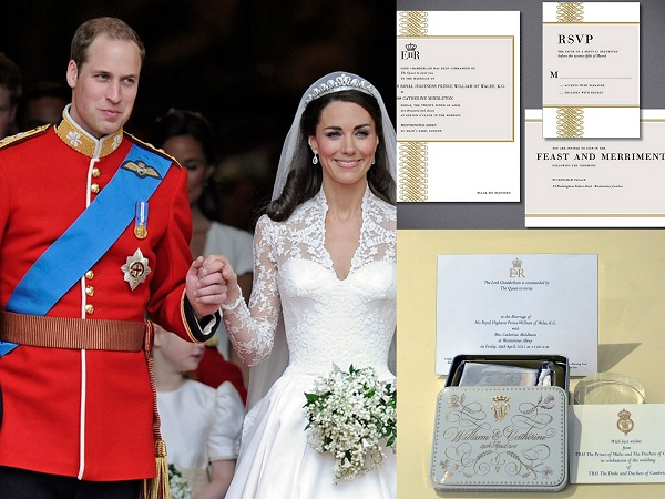 Willian and Kates royal wedding invitations - A2zWeddingCards