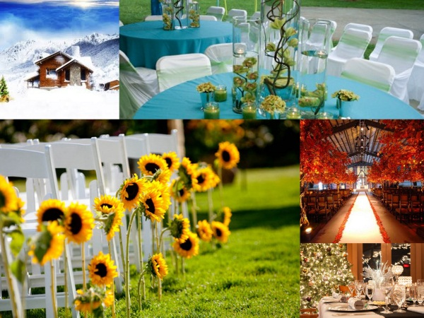 5 Seasonal Rustic Wedding Color Schemes for 2016