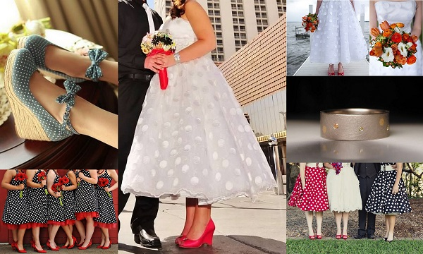 Wedding Theme Polka Dot Dress