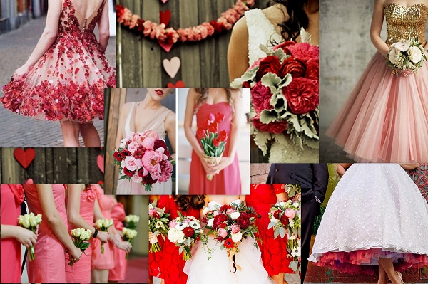 Valentine Theme Wedding Dresses - A2zWeddingCards
