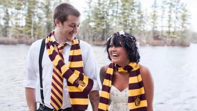 Hogwarts Bow Tie for the Groom - Harry Potter Theme Wedding Ideas