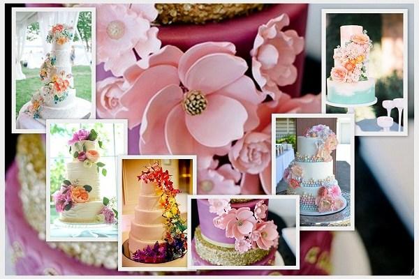Pantone Inspired Spring Wedding Cake 2016 - A2zWeddingCards