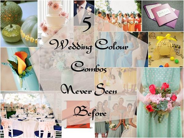 5 Wedding colours combos - A2zWeddingCards