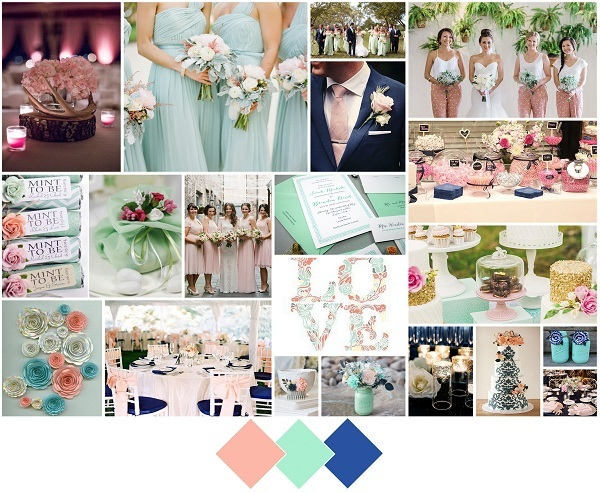 Mint, Teaberry, custom blue-A2zWeddingCards