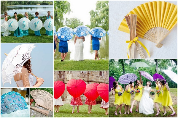Weddings Umbrellas and Hand Fans - A2zWeddingCards