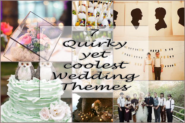 7 Quirky Yet Coolest Wedding Themes A2zweddingcards