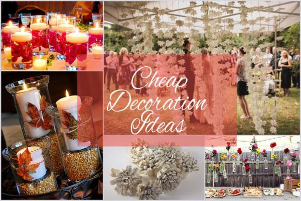 Cheap Wedding Decor Ideas - A2zWeddingCards