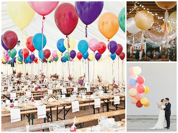 Colourful giant balloon Wedding Decor - A2zWeddingCards