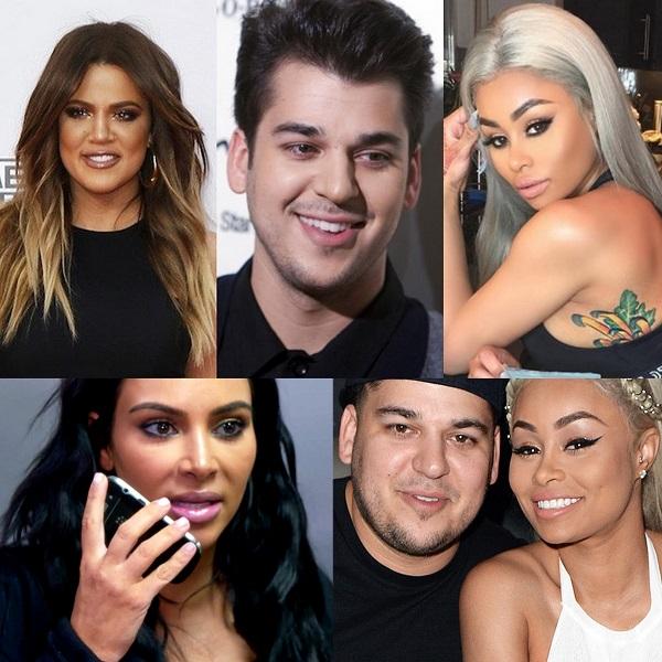 Rob and Chyna - Kim Kardashian - Khloe Kardashian