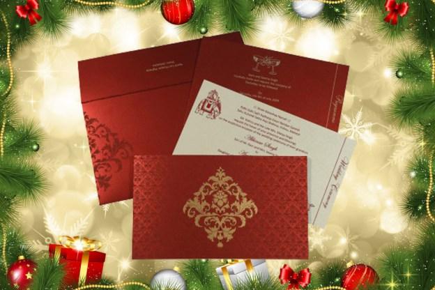 Christmas Wedding Invitation Ideas - A2zWeddingCards