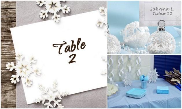 Snow Flake Table Decoration - A2zWeddingCards