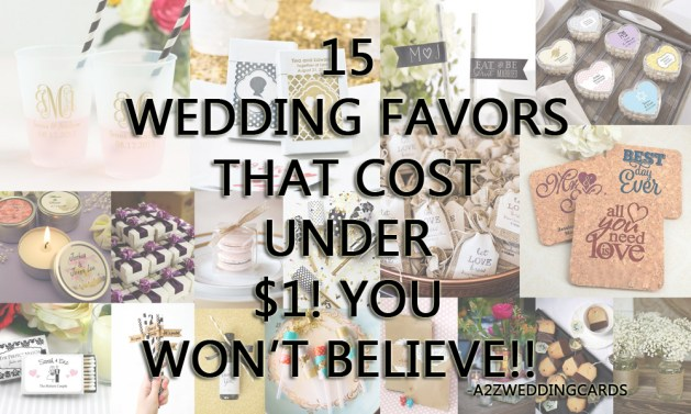 15 Wedding Favors that Cost Under $115