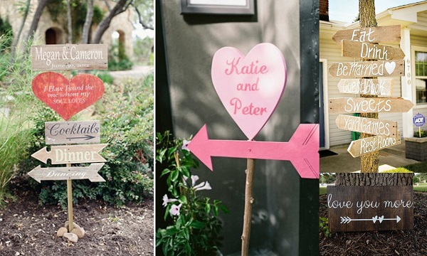8. Valentine Wedding Sign Boards - A2zWeddingCards