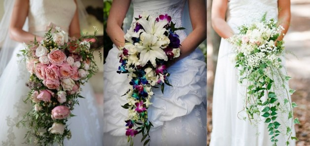 Cascading Style Bridal Bouquet